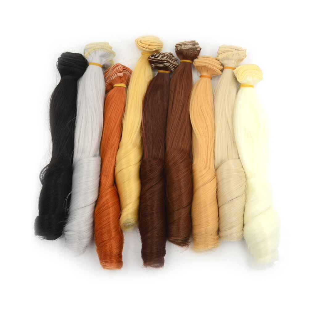 1pc 2New High Temperature Curly Doll Wigs Brown Khaki Black Heat Doll Hair 1/3 1/4 1/6 BJD Diy Doll Wigs 0*100cm