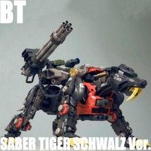 BT 1/72 ZOIDS SABER TIGER SCHWALZ Ver Gundam Assembled model Anime Action Figure Birthday Christmas gift