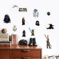 Pvc star wars adesivos de parede à prova dwaterproof água adesivos de parede pvc decalques de parede/adesivo adesivos de parede da família arte mural decoração da sua casa