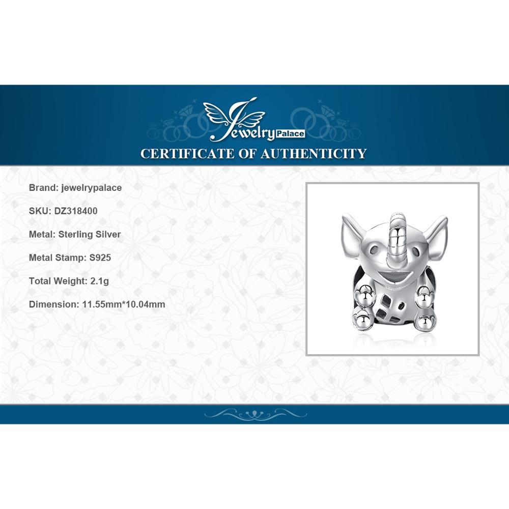 Купить с кэшбэком JewelryPalace Elephant 925 Sterling Silver Beads Charms Silver 925 Original For Bracelet Silver 925 original For Jewelry Making