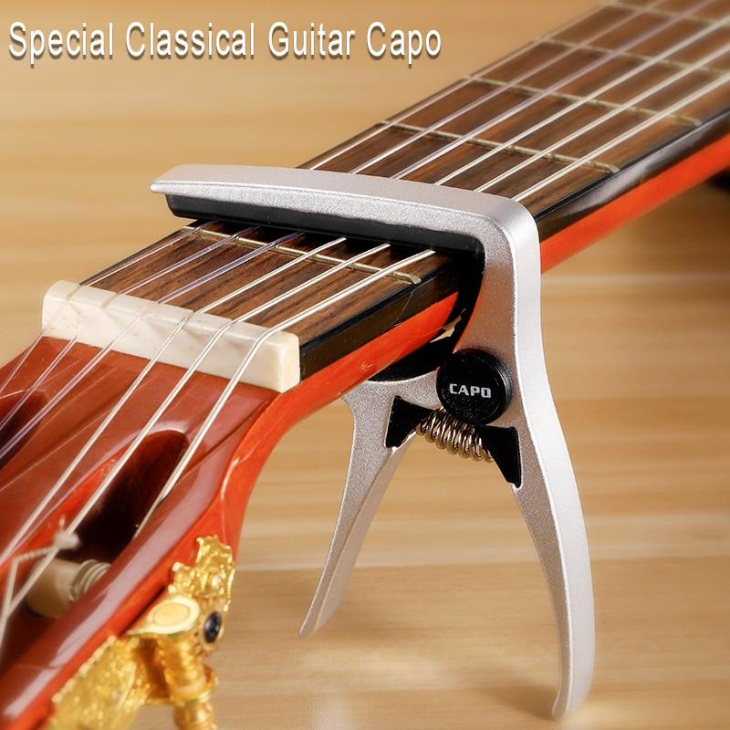 De aleación de Zinc de cejilla de metal guitarra clásica profesional especial Capo de 6 cuerdas abrazadera Capodaster accesorios de guitarra