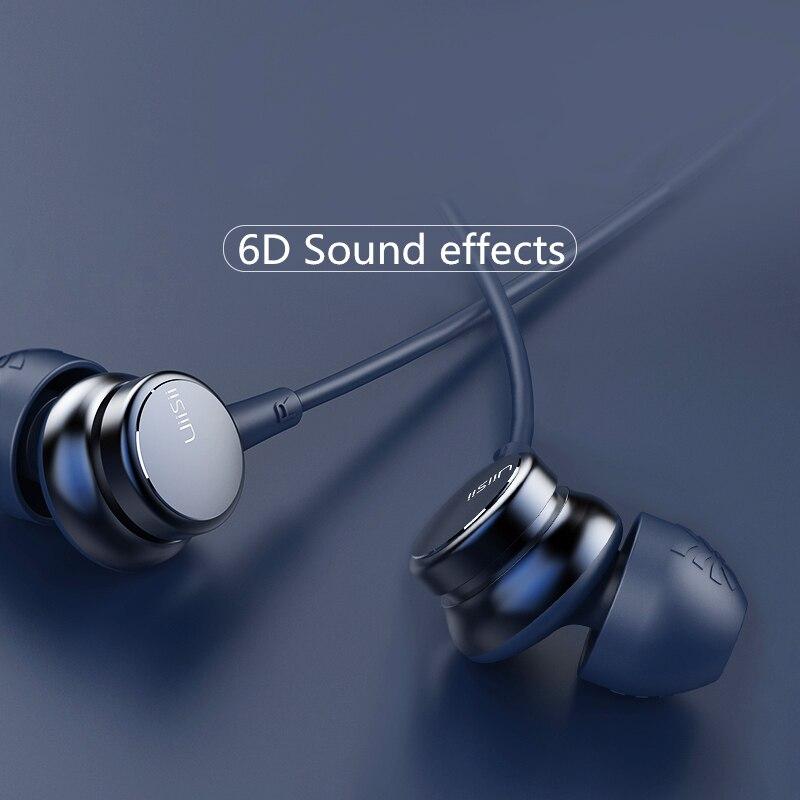 UiiSii HM9 хит продаж Проводные шумоподавляющие динамические тяжелые басы музыкальные металлические наушники с микрофоном для iphone Xiaomi Samsung