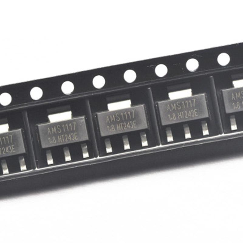 500 قطعة AMS1117-1.8 AMS1117 1.8 فولت 1A الجهد المنظم لدو سوت-223 AMS SOT-223