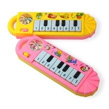 Novo brinquedo do bebê instrumento musical crianças quebra-cabeça educacional musical pequeno oito-chave portátil música teclado brinquedos