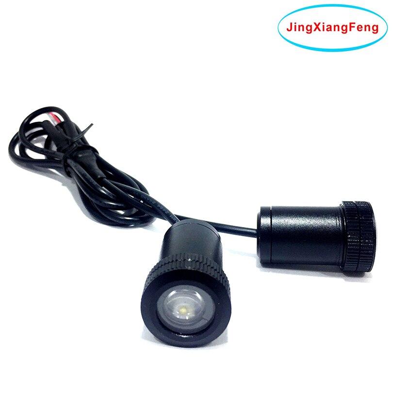 Funda JingXiangFeng para Alfa Romeo LED Logo proyector accesorios decorativos de coche emblema bienvenida puerta luz 3D láser lámpara 12V