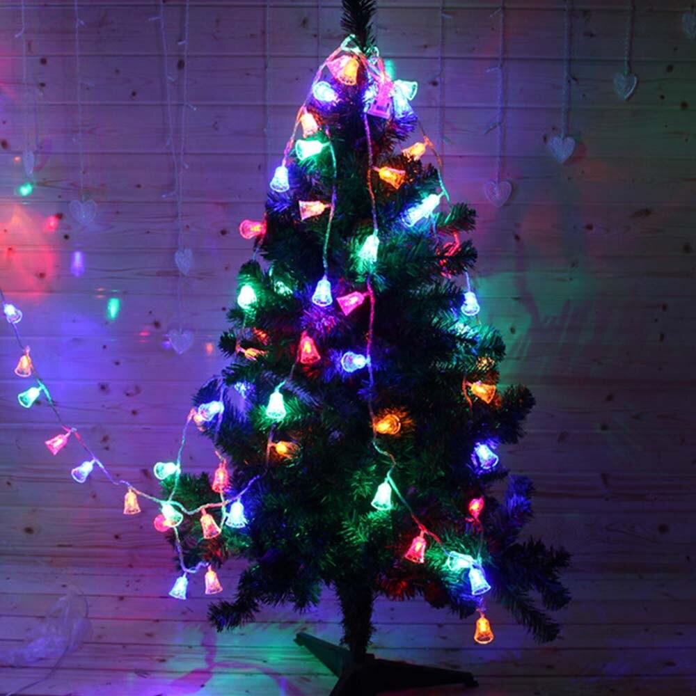 Luzes de natal Ao Ar Livre 10 M 100 LEDs Fada Luz Cordas 6 W Sinos Jingle Bells Decoração Da Árvore de Natal de Ano Novo luzes