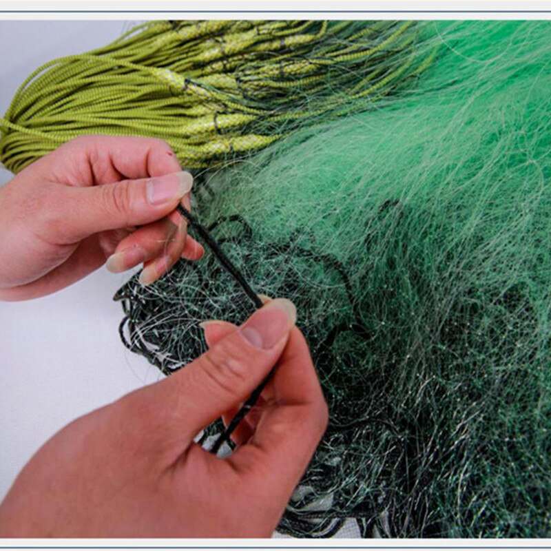 depth 1.5m-2m length 90m qunlity monofilament nylon net rede de pesca outdoor Accessories tool fish trap fishing network green enlarge