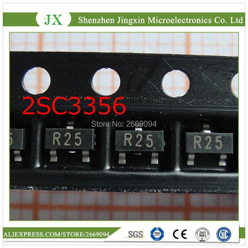 50pcs  2SC3356 2SC3356-25 R25 SOT23-3 Bipolar Transistors - BJT PNP Transistor General Purpose