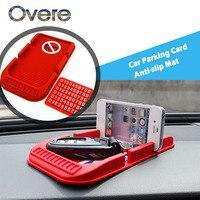 Overe 1Set Car Parking Card Anti-slip Mat Phone Stand styling For Fiat Punto Volkswagen VW Polo Passat B7 B8 Golf 5 6 7 Tiguan