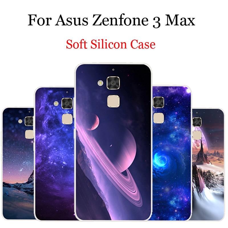 星空柄物電話ケース Asus の Zenfone 5 3 最大シリコンソフト裏表紙の asus ZenFone3 最大 ZC520TL シェル Coque ZC 520TL