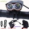 Walkfire 방수 5000 루멘 2x t6 자전거 라이트 자전거 전조등 사이클링 전조등 + 배터리 팩 + 충전기 4 스위치 모드