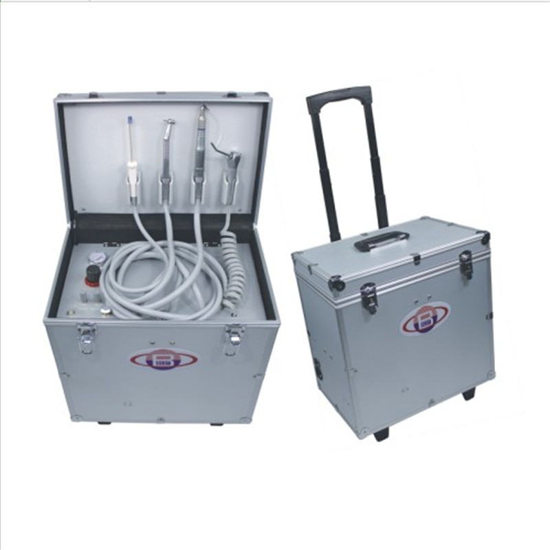 نموذج جديد عالي الجودة وحدة علاج أسنان محمولة مع ثلاث طرق حقنة مكبس هواء بدون زيت