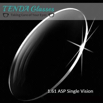 1.61 aspheric lentes de prescrição de óculos ultra finas para óculos quadros de leitura miopia