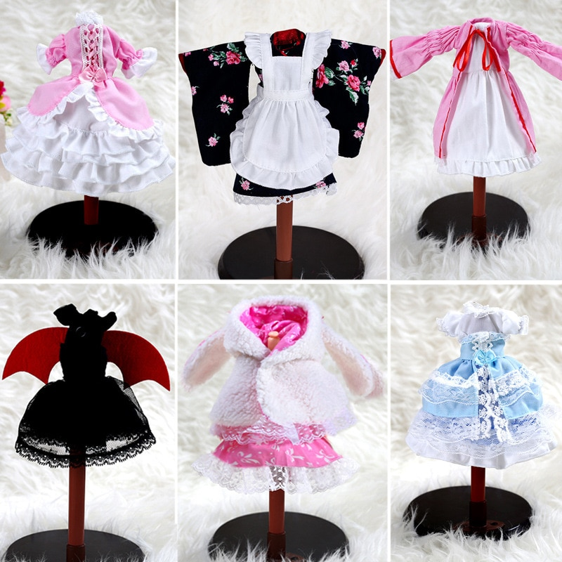 For 35cm Bjd SD Doll Dress Change Costume Cheongsam Baby Doll Head Flower Girl 1/6 Doll Dress Doll Accessories