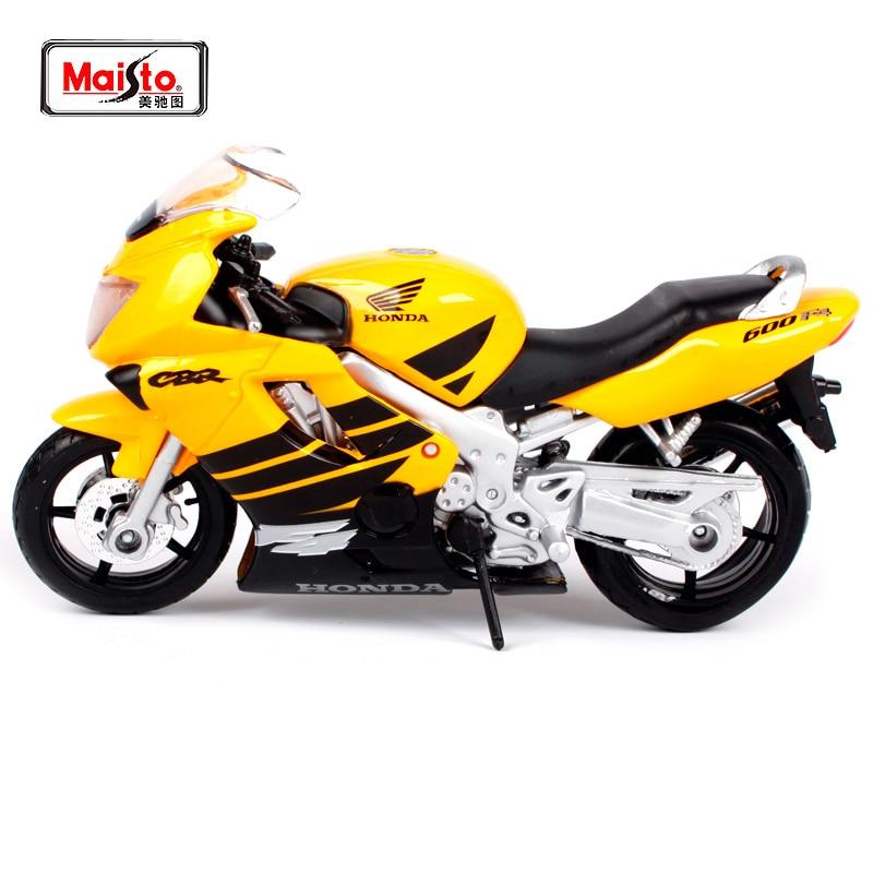 Maisto 118 Honda CBR 600 F4 motocicleta amarilla juguete en miniatura moldeado a presión nuevo en caja envío gratis 333