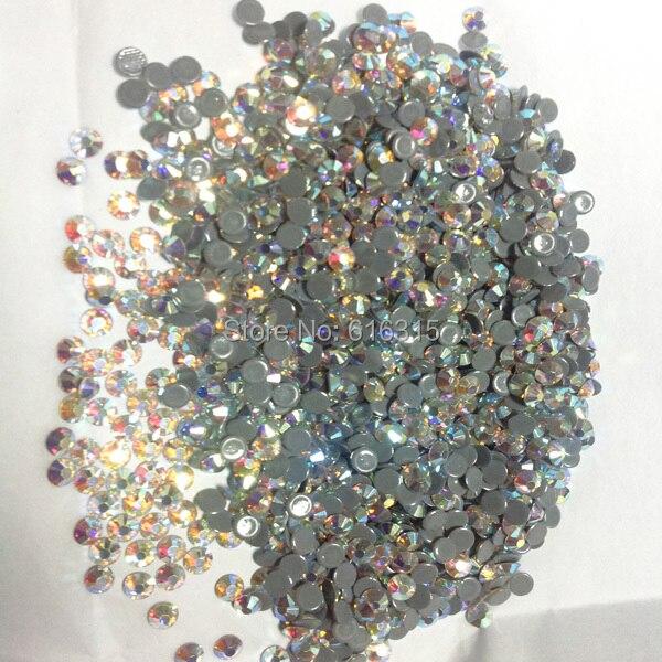 Pequeño tamaño 3mm ss10 de Cristal ab 1440 piezas por paquete; diamante de imitación de alto brillo utilizado para el proveedor de ropa para niños