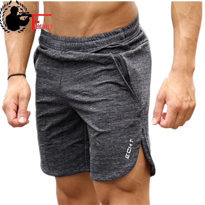 Спортивные шорты для мужчин, летние хлопковые шорты для бодибилдинга, бега, фитнеса