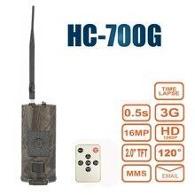 Nouvelle caméra de chasse de sentier infrarouge HC700G 940nm 16MP 3G GPRS MMS SMTP SMS 1080P Vision nocturne