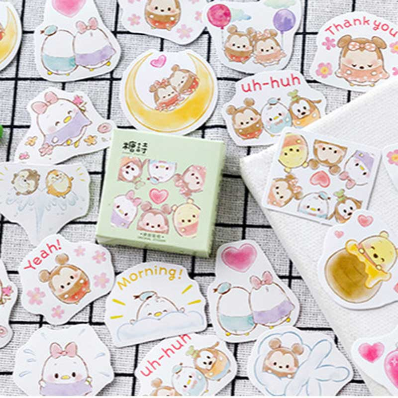 45 unids/caja pegatinas bonitas para mascotas Kawaii Japón Decoración Para planificador pegatina de papel DIY álbum diario papelería Scrapbooking etiqueta Sticke