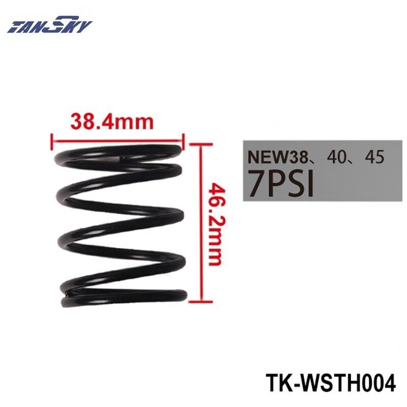 Válvula de descarga externa TURBO 38MM 40MM 45MM WG muelle recubierto reemplazo 7 PSI/7PSI 0,5 bar sólo para TURBO TK-WSTH004 inteligente