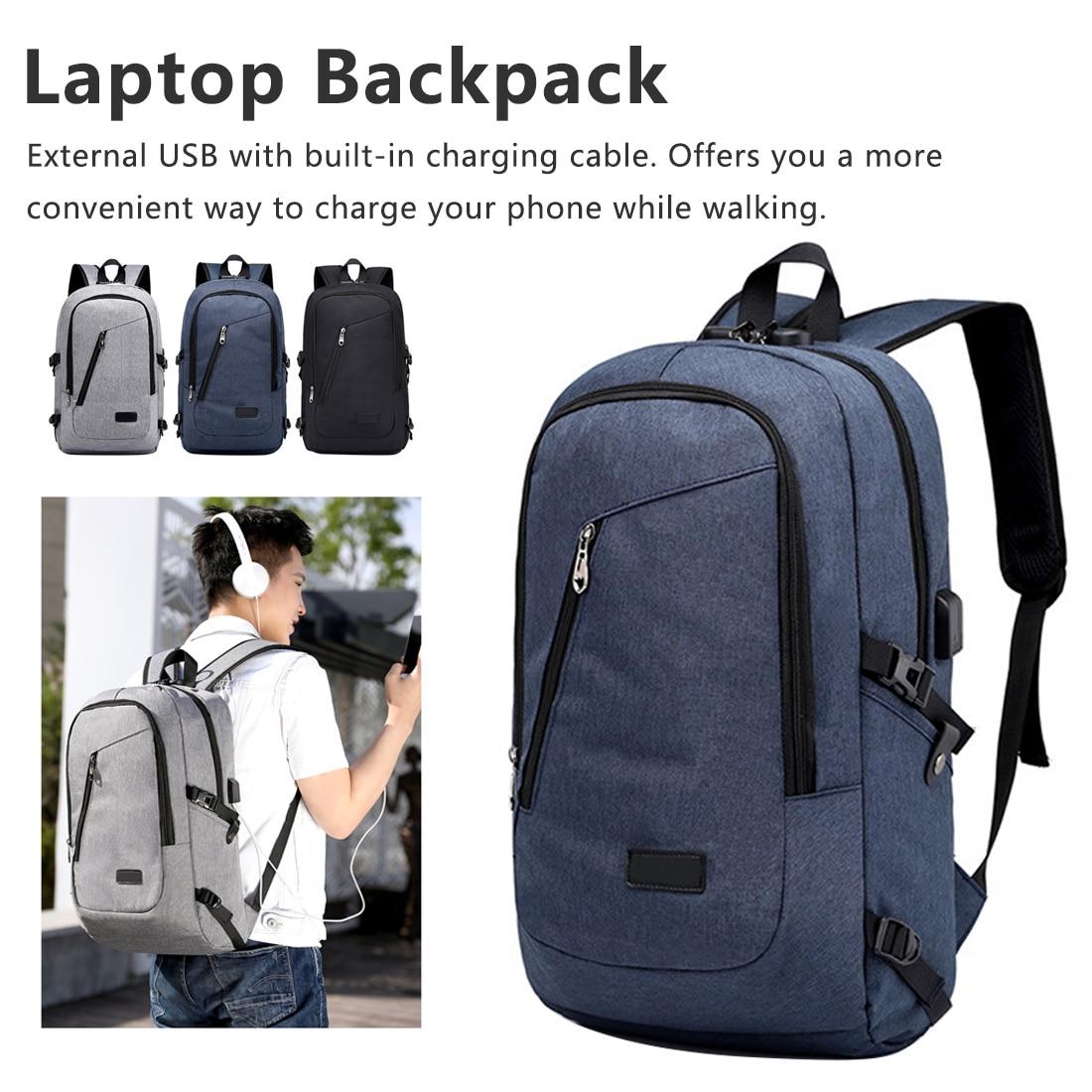 Laptop Backpack USB Charging Male Anti Travel Bag Fashion Sports Schoolbag Theft Password Locks School Bag Casual Bag Waterproof
