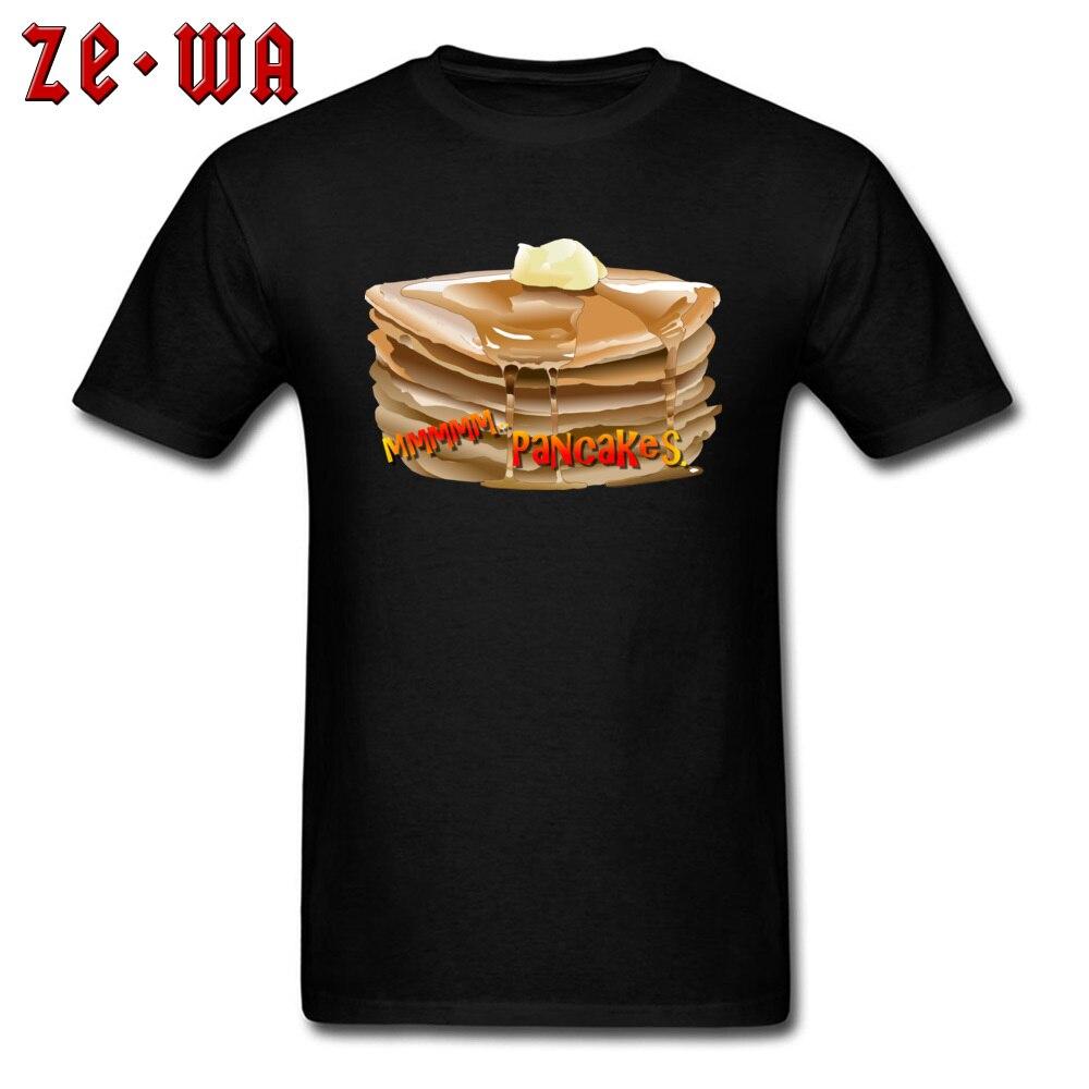 Camiseta de fiesta para hombre Yummy Pancakes, camisetas 3D, camiseta estampada para adulto, ropa de 100% algodón, camisetas negras, camisetas divertidas de manga corta