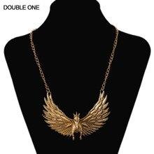 Collier aile dange de mode collier de cheval en or Rihanna collier pendentif chaîne pour femmes