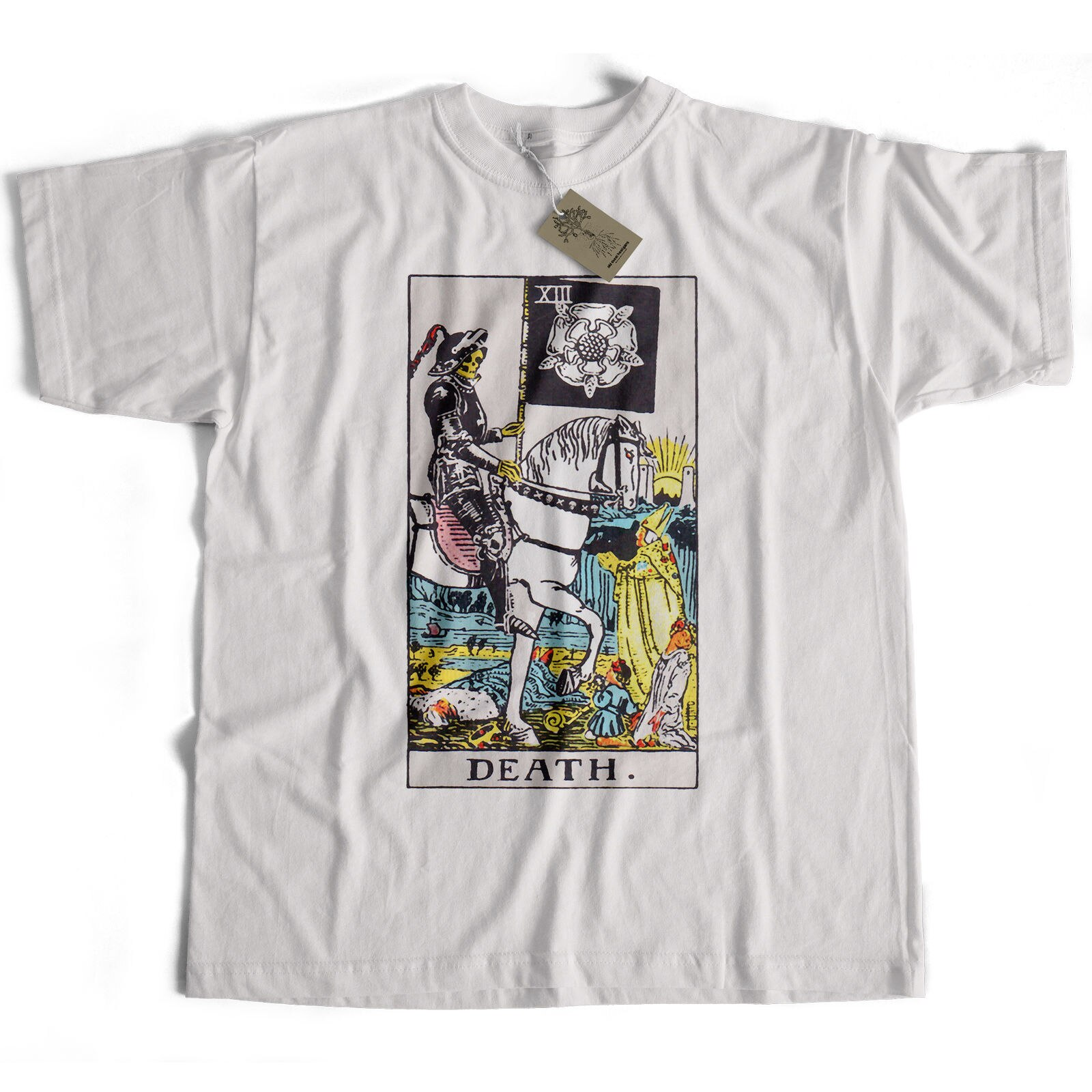 Viejo Skool Hooligans jinete Waite Tarot T camisa-color de la muerte tarjeta oculta magia