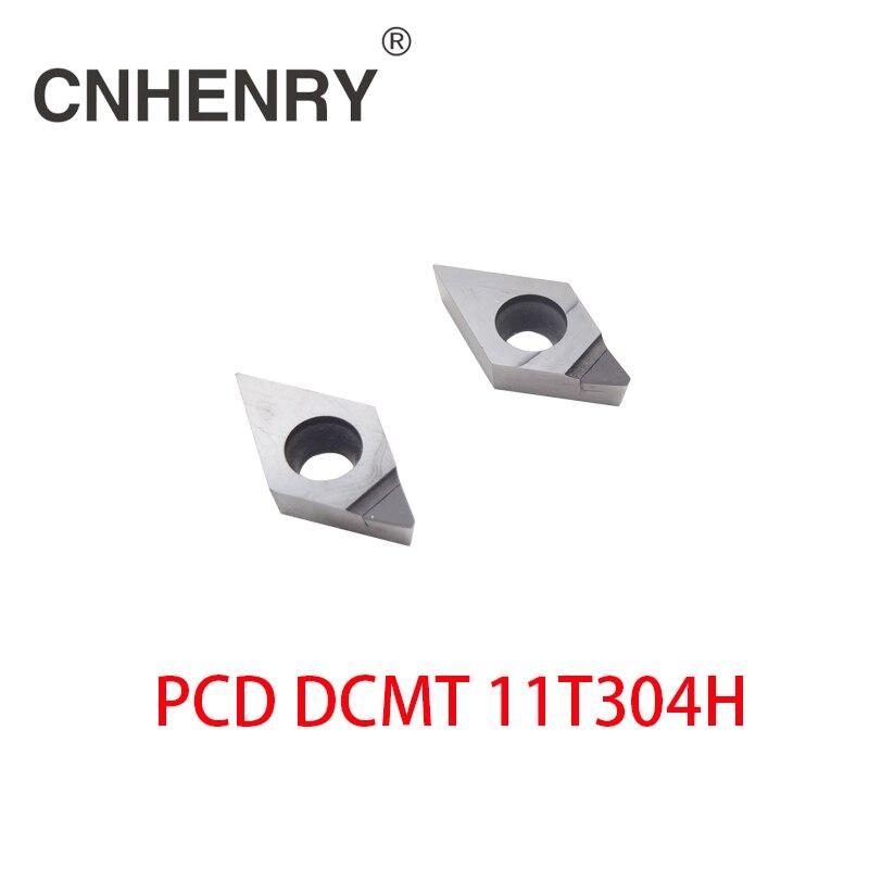 Бесплатная доставка 2 шт PCD Токарные Вставки DCMT 11T304 CNC PCD алмазные вставки для токарных инструментов для SDJCR/SDACR/SDNCN