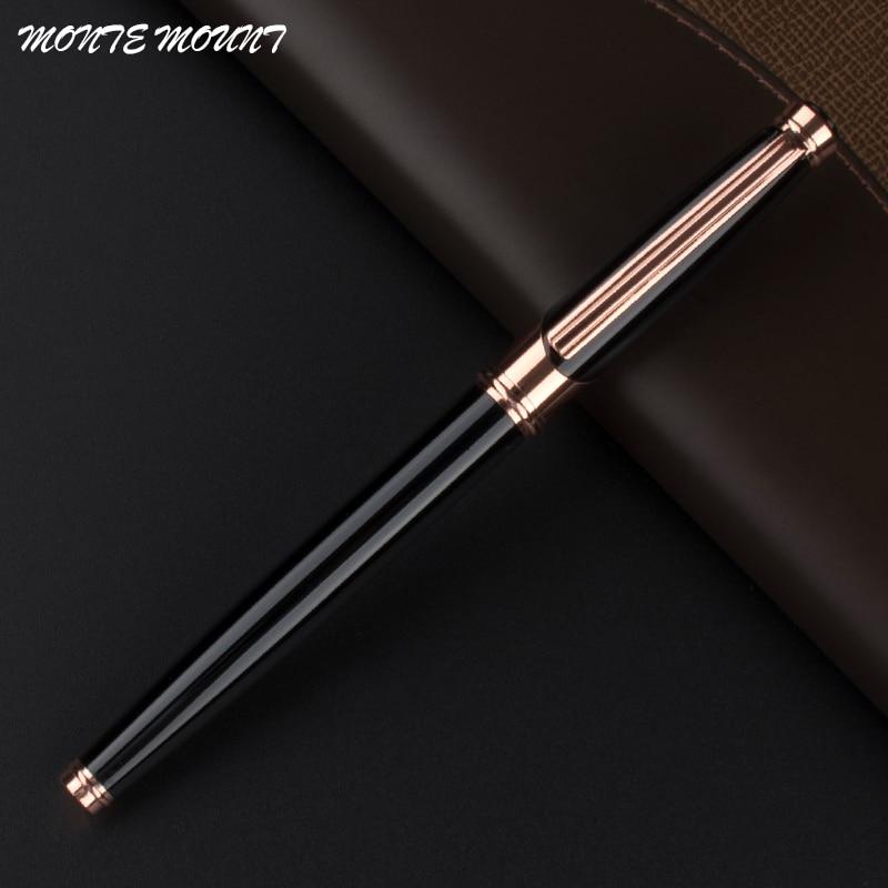 Высококачественная Роскошная шариковая ручка 0,5 мм для школы и офиса металлическая шариковая ручка для канцелярский подарок для студента