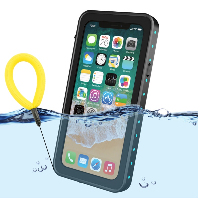 Funda impermeable 100% para iPhone X XS 7 8 Plus a prueba de golpes, funda de buceo para iPhoneX, funda protectora submarina para exteriores