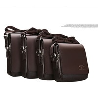 Винтажная кожаная мужская сумка через плечо