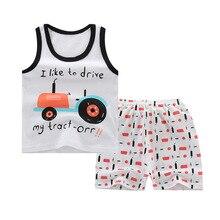Boys Sets Children Set Summer Boy Shorts Clothes Cartoon Dragon T-Shirt and Pants for Kids Baby Cotton Suit Boy Clothes