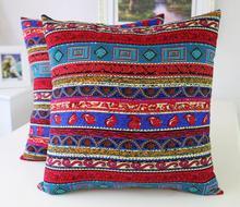 Fyjafon 2pcs Linen Pillow Cover Printed Decorative Pillow Case Red Pillow Cases Cushion Cover Home Decor 45x45/50x50/60x60