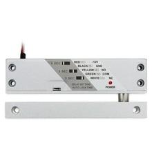 12VDC Houten Deur Magnetische Drop Bolt Lock Surface Mount Elektrische Gate Lock Met Timer