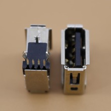 YuXi 1 pcs/lot USB 2.0 4Pin A Type prise femelle corps plat sertissage côté Vertical noir