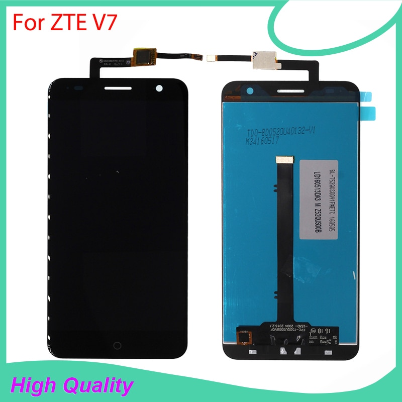 100% Original Quality For ZTE Blade V7 LCD Display+Touch Screen Mobile Phone LCDs With free Tools