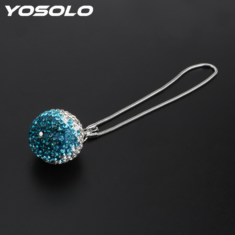 YOSOLO Алмазный хрустальный шар автомобильный кулон креативное авто украшение зеркало заднего вида орнамент висячие украшения