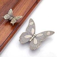 vintage butterfly drawer handle pulls flower knobs animal handle bronze kitchen cabinet handle furniture hardware