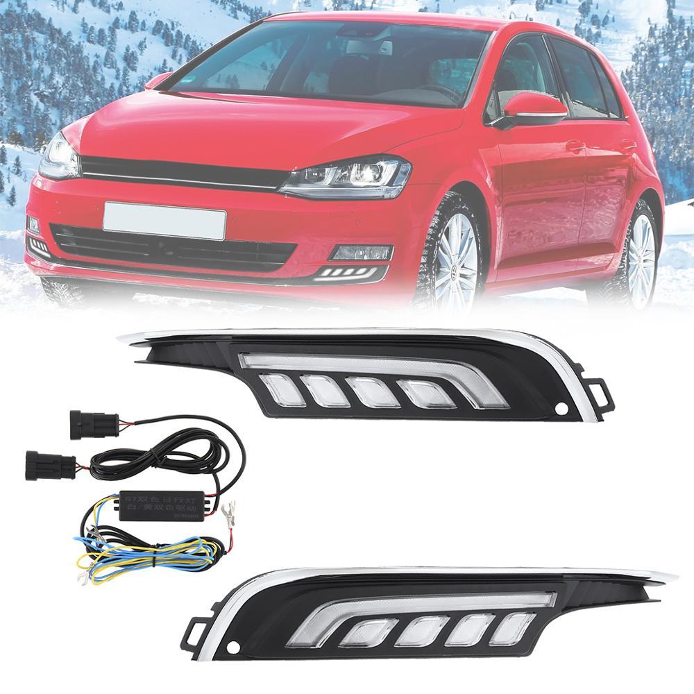 12V Белый свет Водонепроницаемый Универсальный 6000K LED Авто дневные ходовые огни