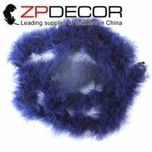ZPDECOR – plumes de marabes bleu marine, 10Yards, 20g, qualité supérieure, pour bricolage, décor de carnaval et de mariage, vente en gros