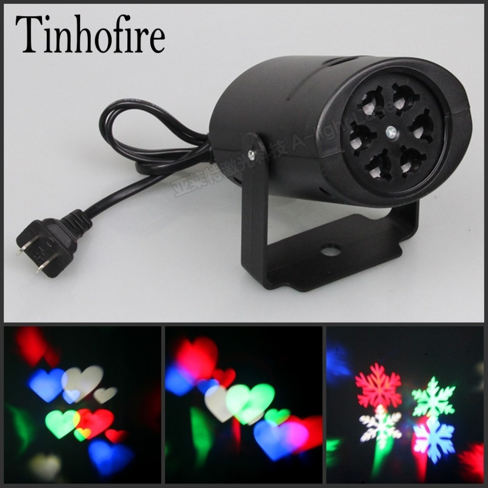 Tinhofire 4W nieve amor caleidoscopio Led etapa lámpara luz Logo Luz