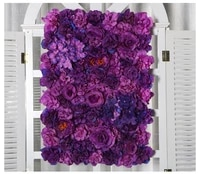 60x40cm artificial silk flower panels roses peonies hydrangea floral backdrop for wedding party flower wall decoration