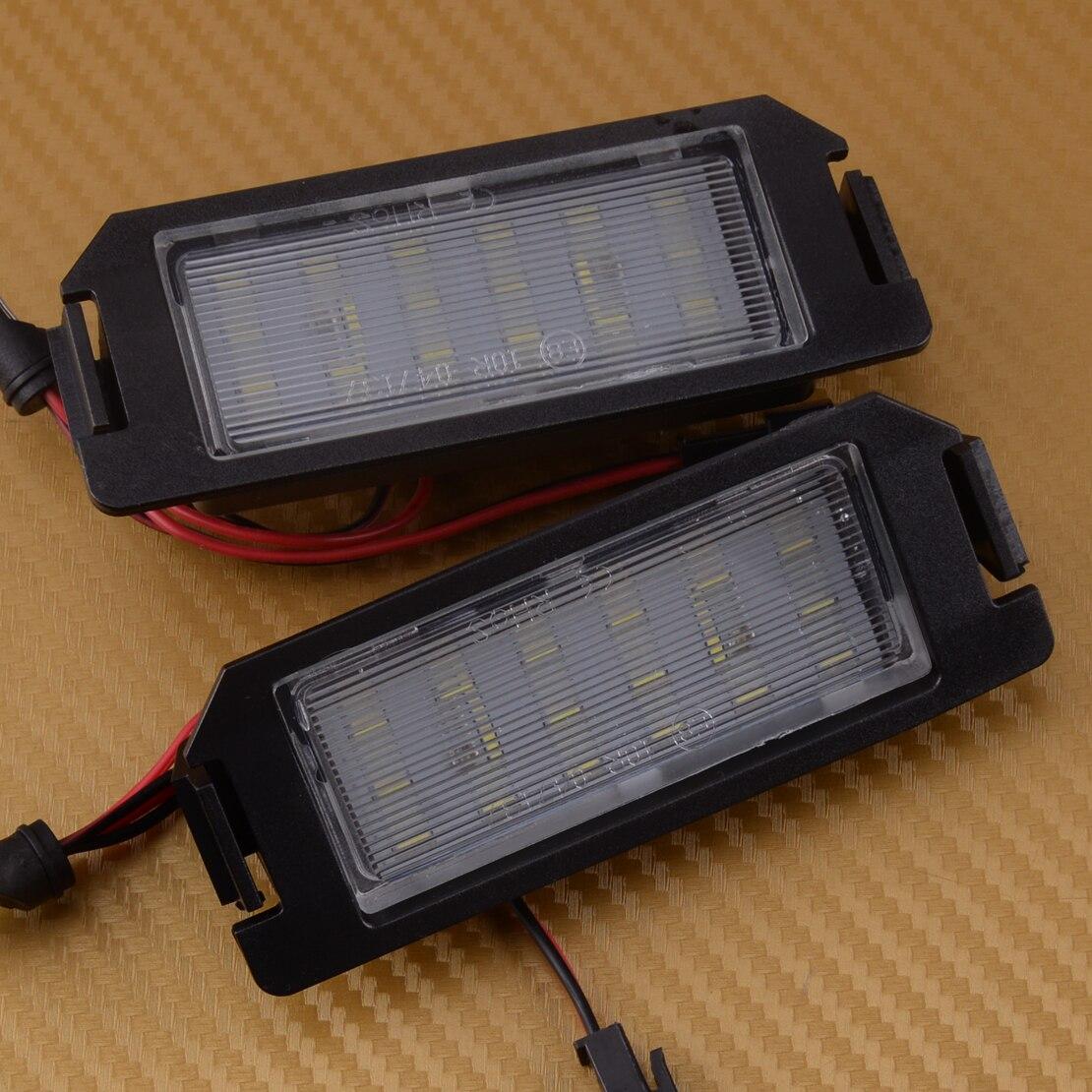 DWCX 2 uds 18 LED para placa de matrícula de la lámpara de la luz para Hyundai I20 HEV FS XG30 Terracan HP Coupe GK