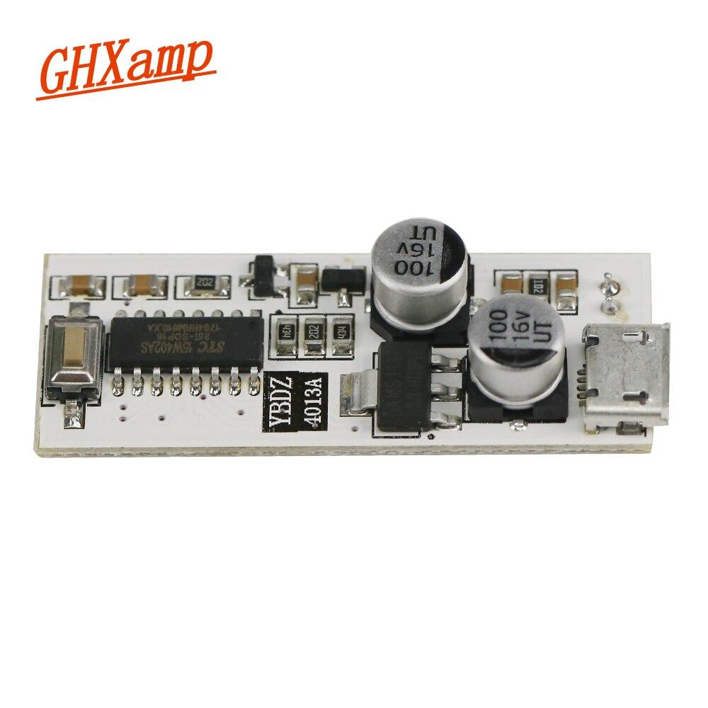 Ghxamp doble 13 espectro de música LED Audio USB Mini indicador de luz amplificador DIY con sensibilidad de micrófono ajustable 10 Nivel 5V