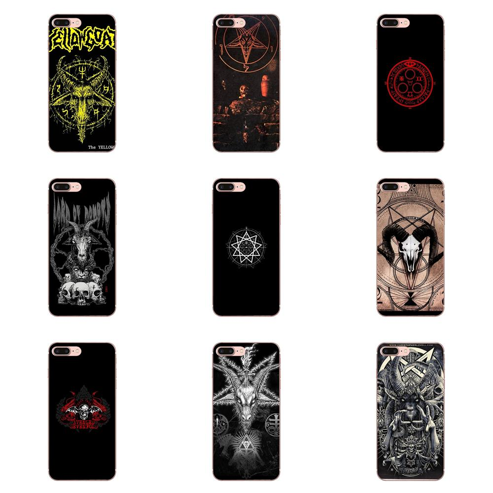 Clásico Satanás pentagrama del ocultismo mal para Xiaomi Redmi nota 2 3 3S 4 4A 4X 5 5A 6 6A Pro Plus piel suave del teléfono