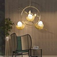 Bird's Nest Nordic Hanging Lamp Bedroom LED Pendant Light Fixtures Fashion Aluminum Pendant Lights Dining Hanglampen Luminaire