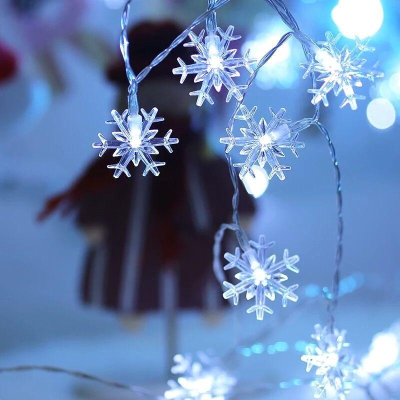 10 м 100LED 220В/110В гирлянда со снежинками, светильник, Рождественская гирлянда, Сказочная занавеска, лампа для дома/улицы, для праздника, свадьбы, вечеринки, декора