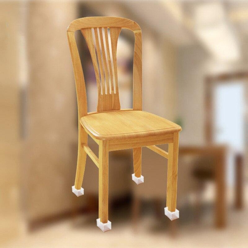 10 unidades/juego de gorros redondos y cuadrados rectangulares de silicona transparente, almohadillas para pies de pierna de Silla, muebles, mesa, suministros de protección para suelo de madera
