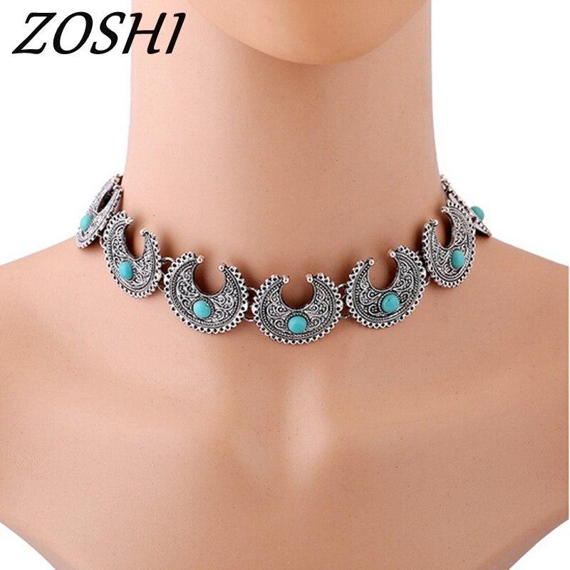 Vintage collares Metal colgantes mujer gargantilla collar gótico accesorio de joyería de moda declaración collar 2019 collares de gran tamaño